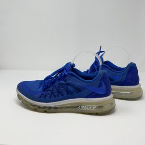 Nike Womens Blue Air Max 2015 705457-402 Lace Up Athletic Running Shoes Size 8